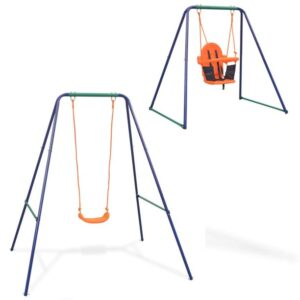 INLIFE 2 in1 Single Swing and Toddle Swing